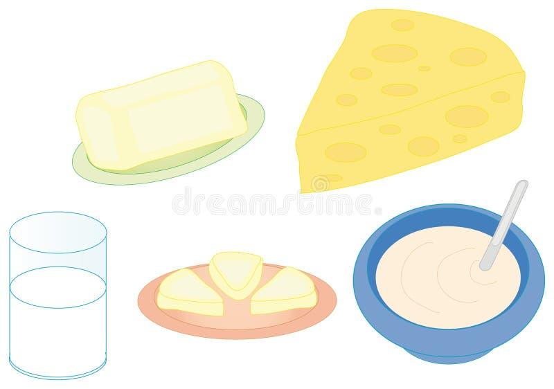 De kleurenreeks van het ontbijt vector illustratie