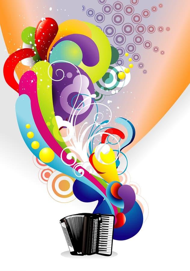De kleurensamenvatting van de muziek royalty-vrije illustratie