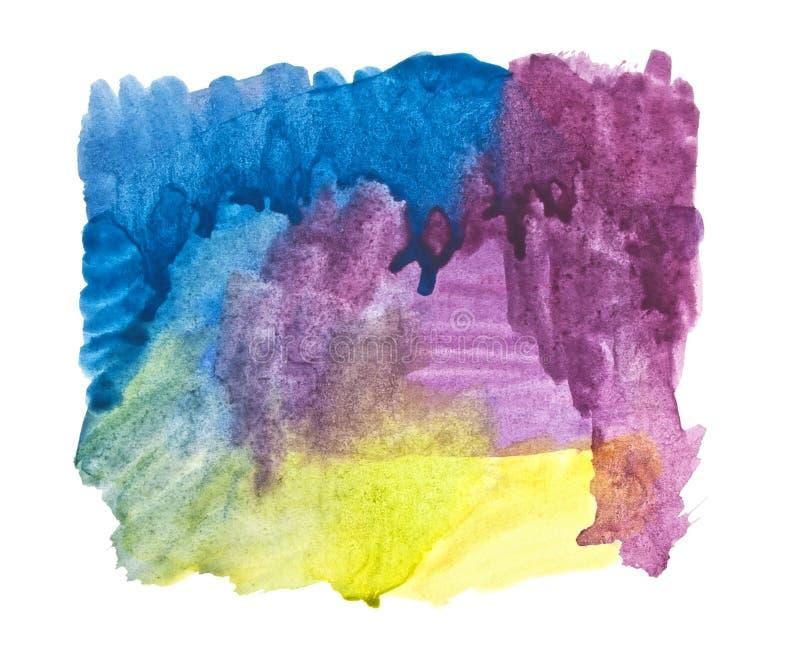 De kleurenslagen van het water het schilderen vector illustratie