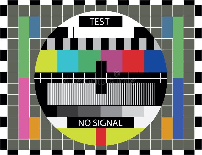De kleurentest van TV vector illustratie