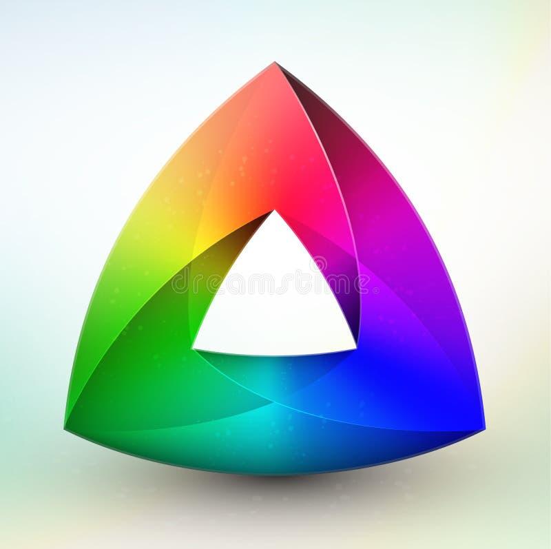 De kleurenwiel van de gem royalty-vrije illustratie
