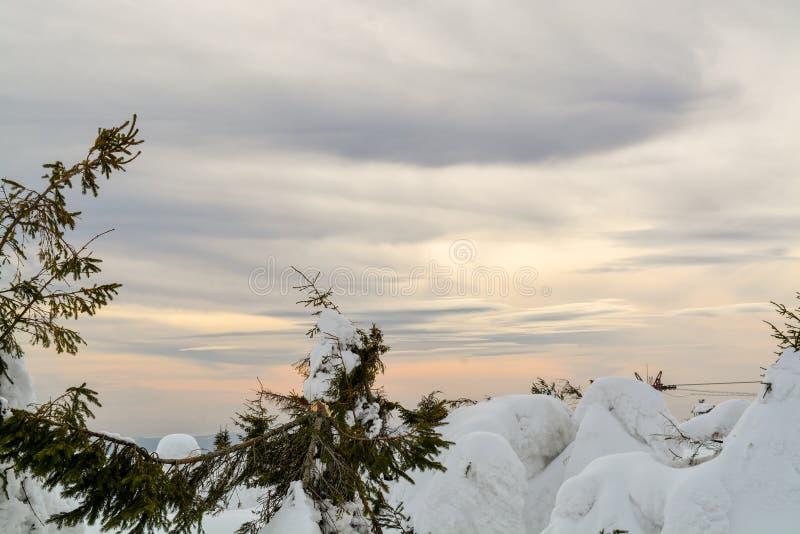 De kleurenwolken en winter royalty-vrije stock foto's