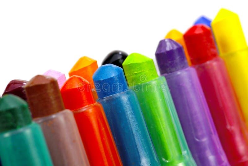 De Kleurpotloden Van De Kleur Stock Afbeelding
