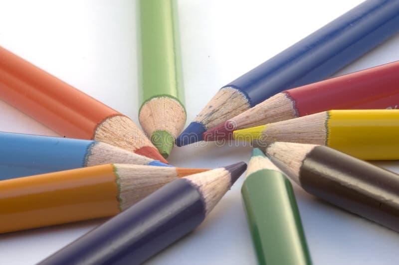 De Kleurpotloden van het potlood royalty-vrije stock foto's