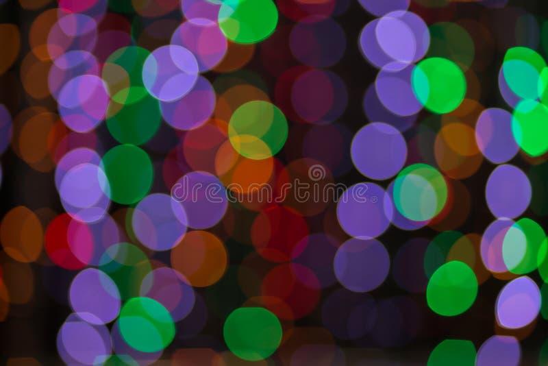 De kleurrijke abstracte achtergrond van Bokeh royalty-vrije illustratie