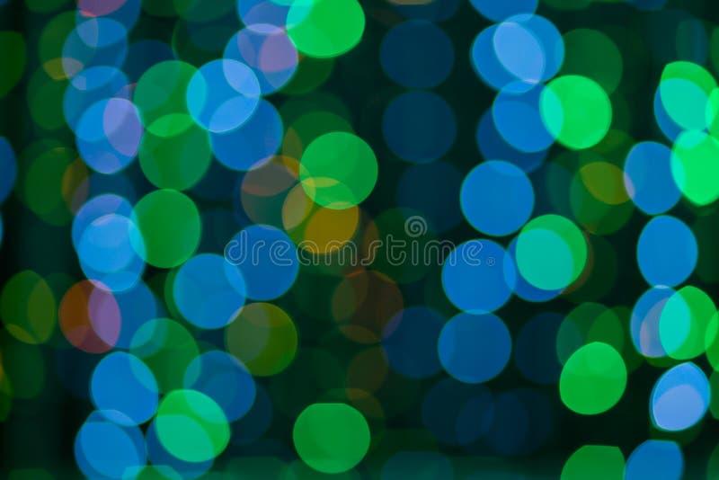 De kleurrijke abstracte achtergrond van Bokeh stock illustratie