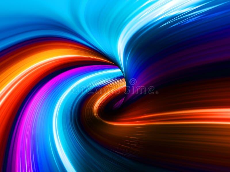 De kleurrijke Abstracte Achtergrond van Lichten stock illustratie