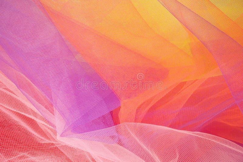 De kleurrijke Abstracte Achtergrond van Tulle en Texturen #1 royalty-vrije stock foto