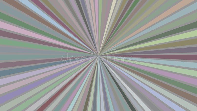 De kleurrijke abstracte hypnotic ster barstte streepachtergrond vector illustratie