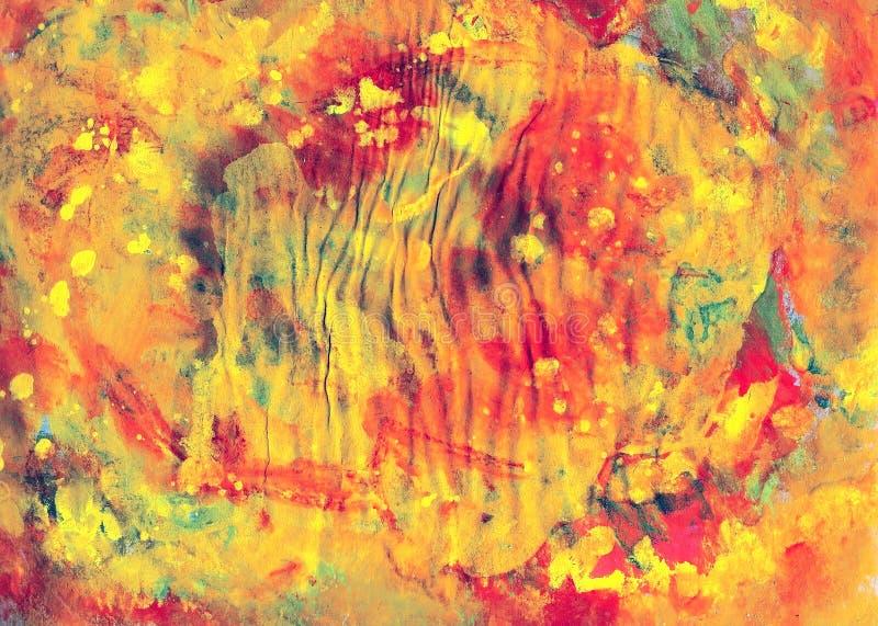 De kleurrijke abstracte kunst van het vervencanvas voor ontwerp of achtergrond stock afbeelding