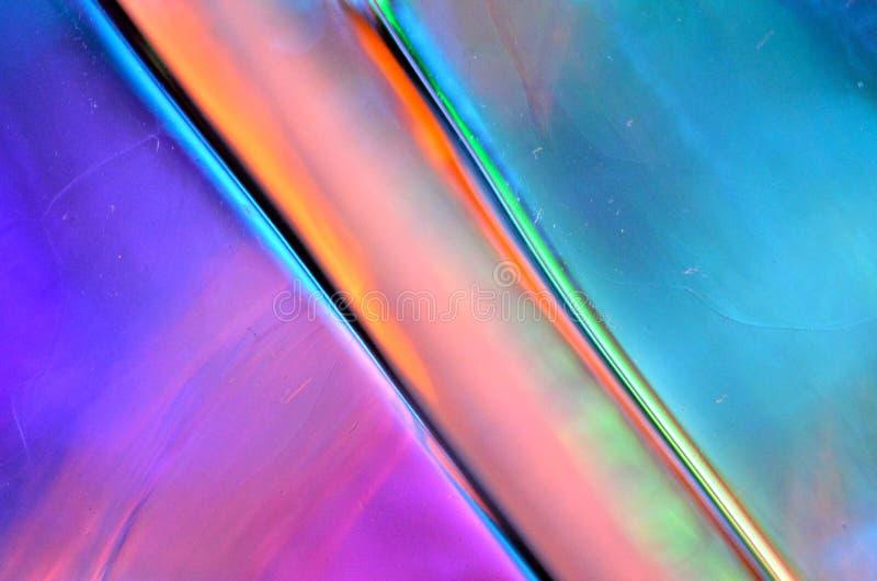 De kleurrijke Abstracte Textuur van het Glas stock afbeelding