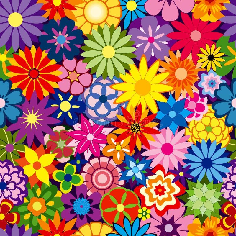 De kleurrijke Achtergrond van de Bloem vector illustratie