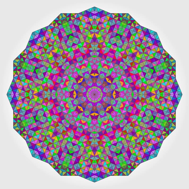 De kleurrijke Achtergrond van de Cirkelcaleidoscoop Mozaïek Abstracte Bloem van stock illustratie