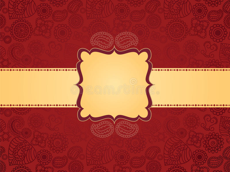 De kleurrijke achtergrond van de Henna, met banner royalty-vrije illustratie