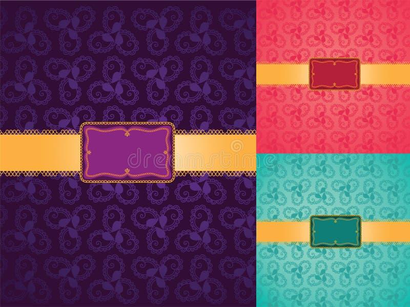 De kleurrijke achtergrond van de Henna, met banner stock illustratie