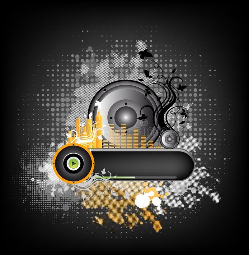 De kleurrijke achtergrond van de muziek grunge vector illustratie