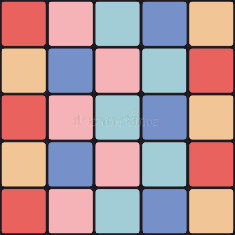 De kleurrijke Achtergrond van de Tegel vector illustratie