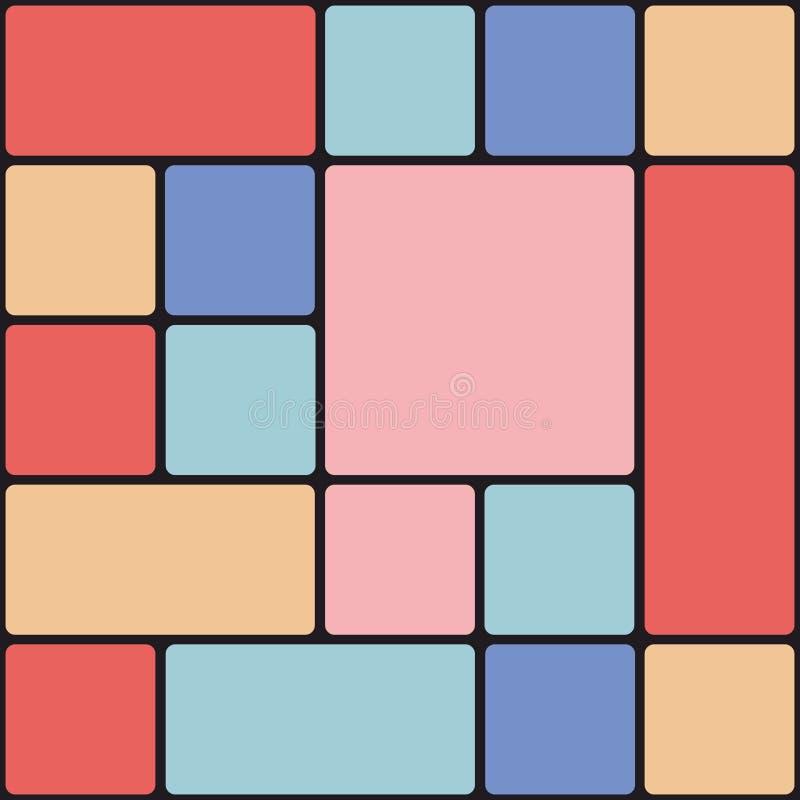 De kleurrijke Achtergrond van de Tegel stock illustratie
