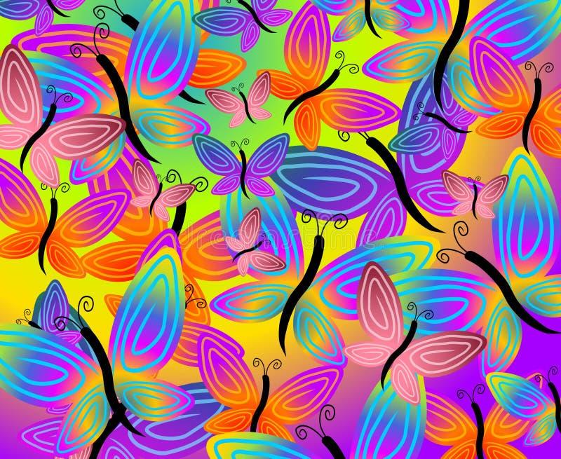De kleurrijke Achtergrond van de Vlinder vector illustratie