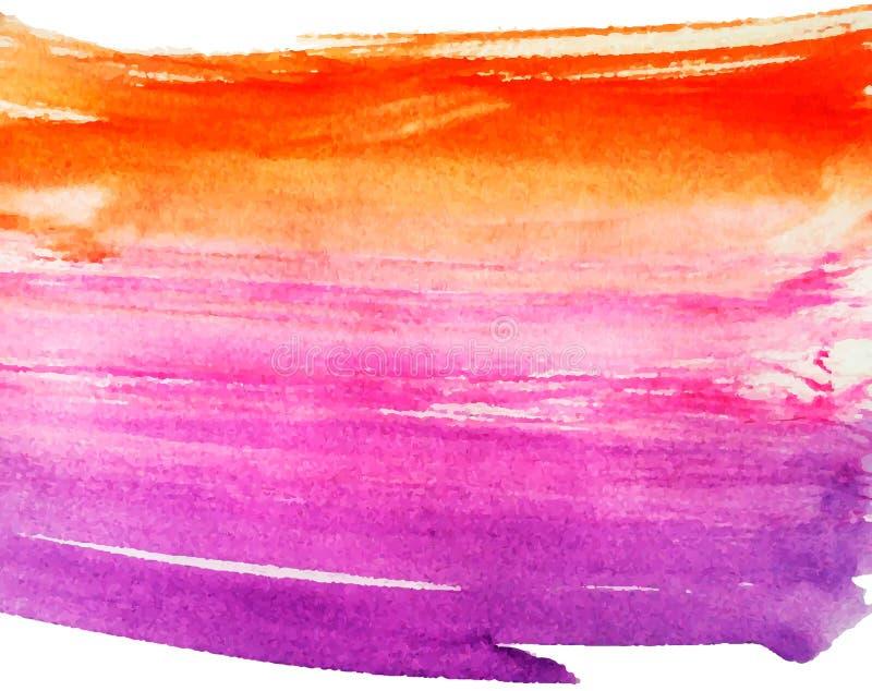 De kleurrijke Achtergrond van de Waterverf Vector illustratie royalty-vrije illustratie