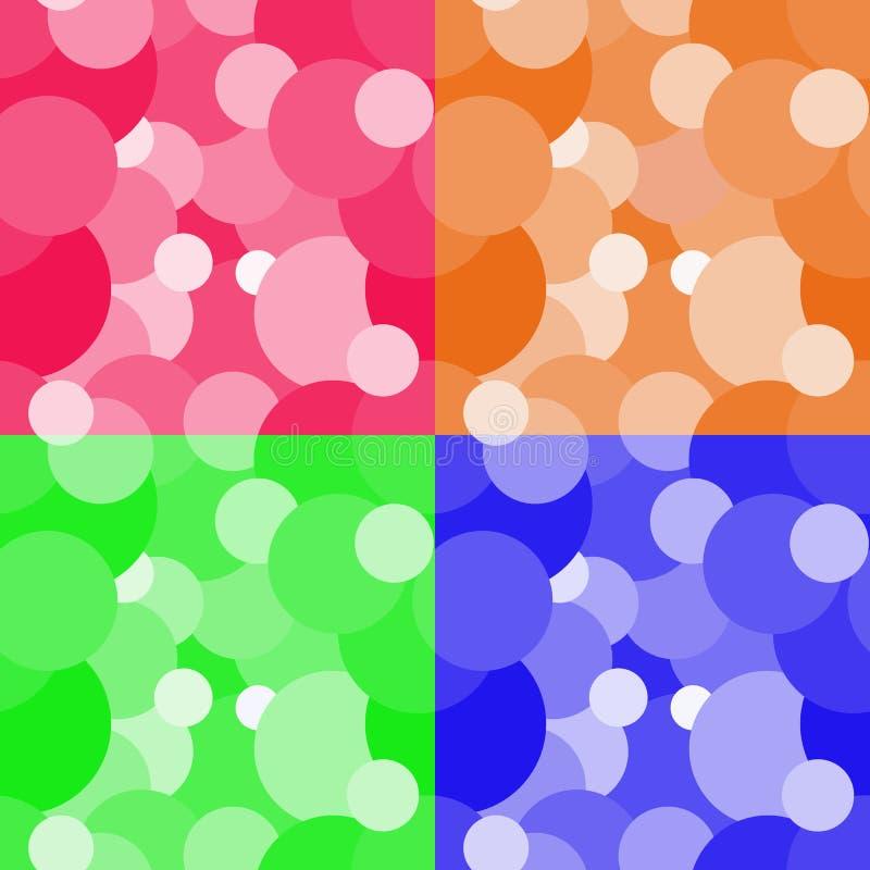 Download De Kleurrijke Achtergrond Van Het Cirkels Naadloze Patroon Vector Illustratie - Illustratie bestaande uit grafisch, art: 54075658