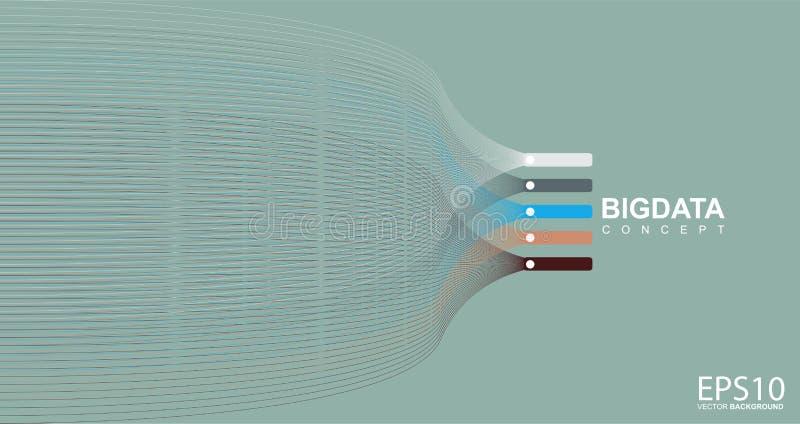 De kleurrijke achtergrond van het lijnpatroon Groot gegevensconcept stock illustratie