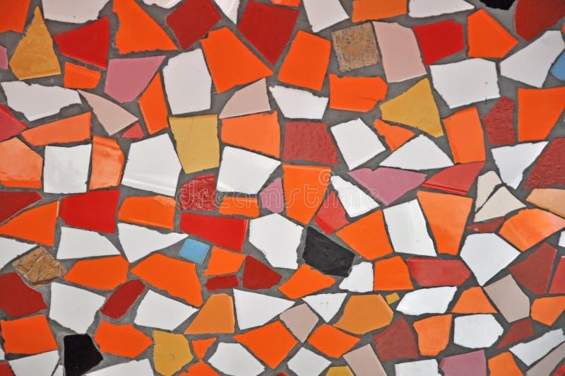 De kleurrijke achtergrond van keramische tegelpatronen royalty-vrije illustratie