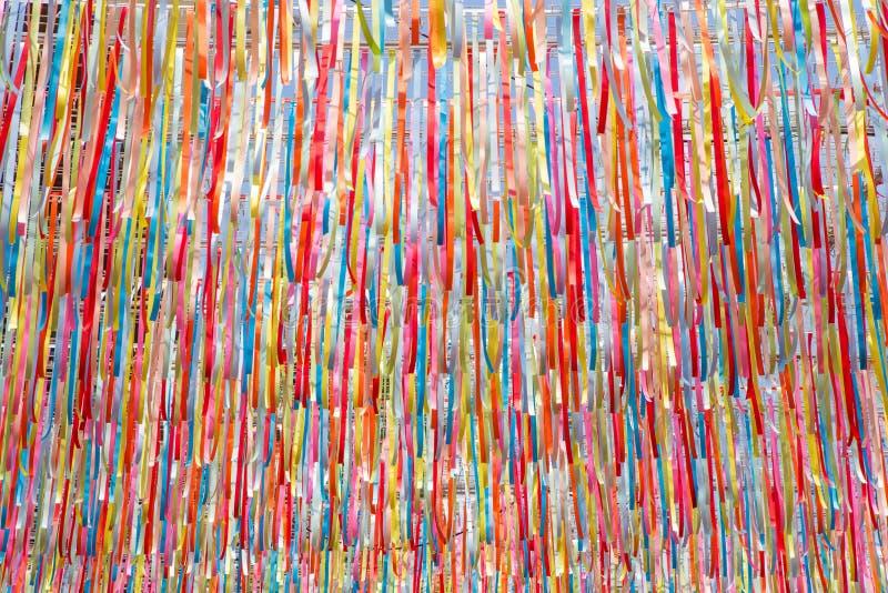 De kleurrijke achtergrond van de lintentextuur royalty-vrije stock afbeelding