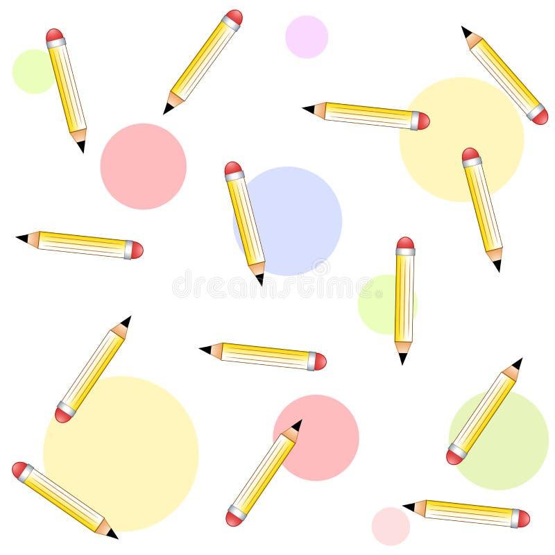 De kleurrijke Achtergrond van Tileable van Potloden vector illustratie