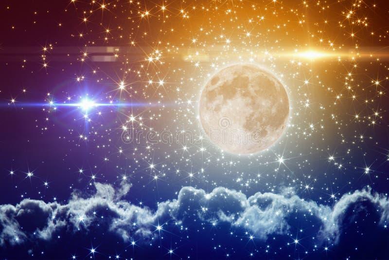 De kleurrijke achtergrond van de volle maanpartij stock illustratie