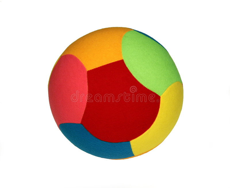 De kleurrijke Bal van het Stuk speelgoed royalty-vrije stock afbeeldingen