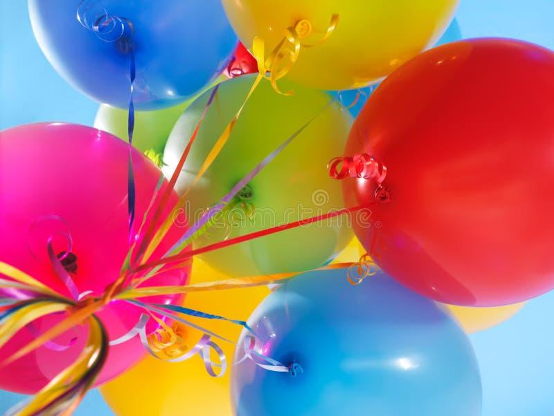 De kleurrijke Ballons van de Lucht stock foto's