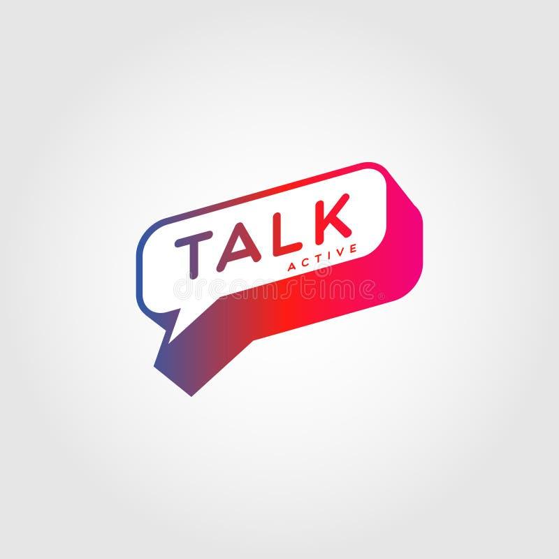 De kleurrijke Bespreking Logo Sign Symbol Icon van de Gradiëntbel stock illustratie