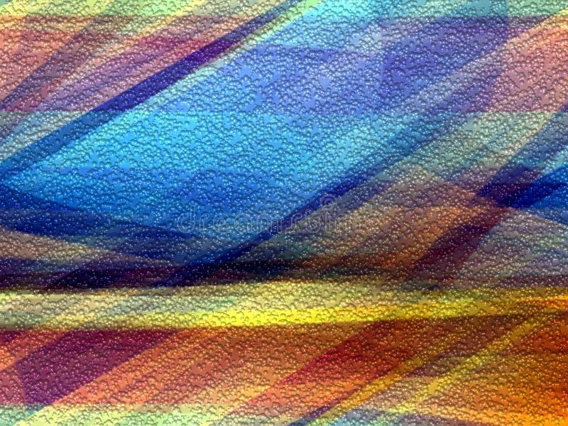 De kleurrijke blauwe oranje meetkundeachtergrond, vat kleurrijke meetkunde samen vector illustratie