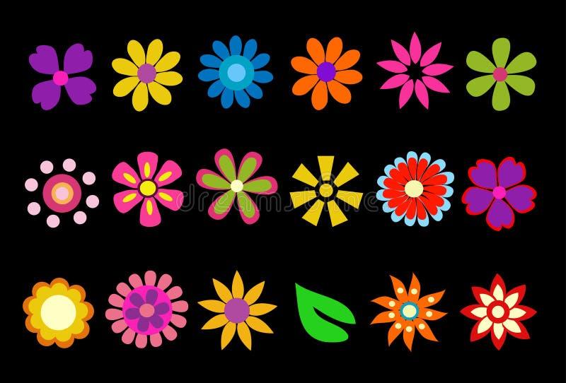 De kleurrijke Bloemen van de Lente stock illustratie