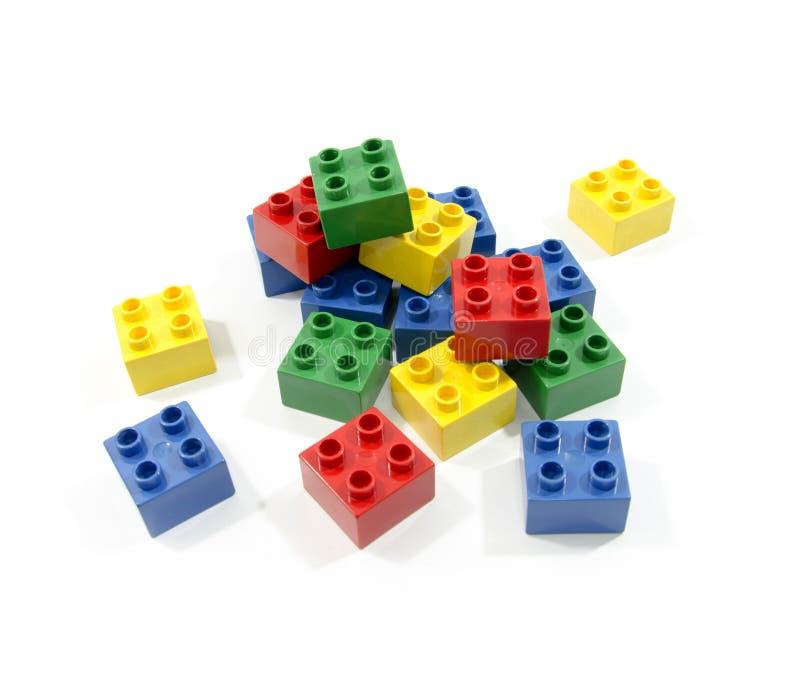 De kleurrijke blokken van Lego stock foto