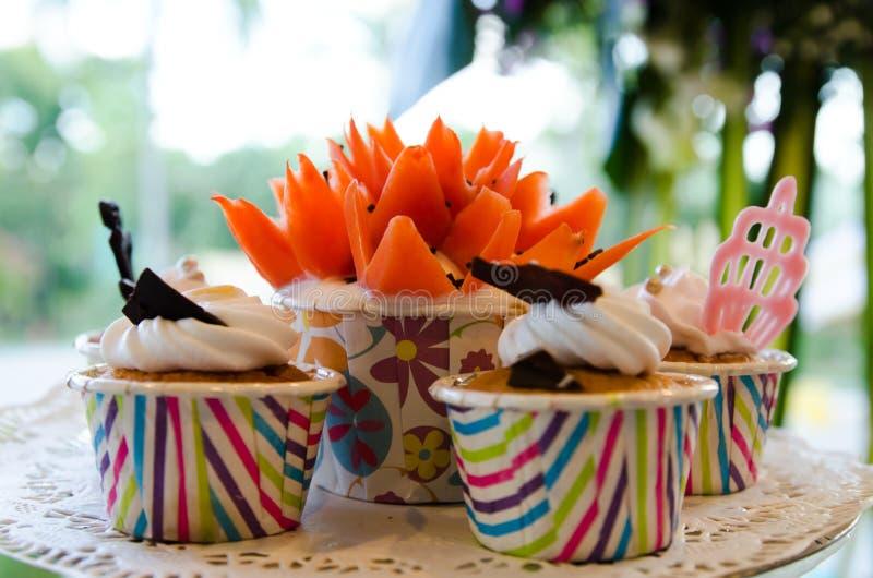 De kleurrijke Cake van de Kop royalty-vrije stock foto