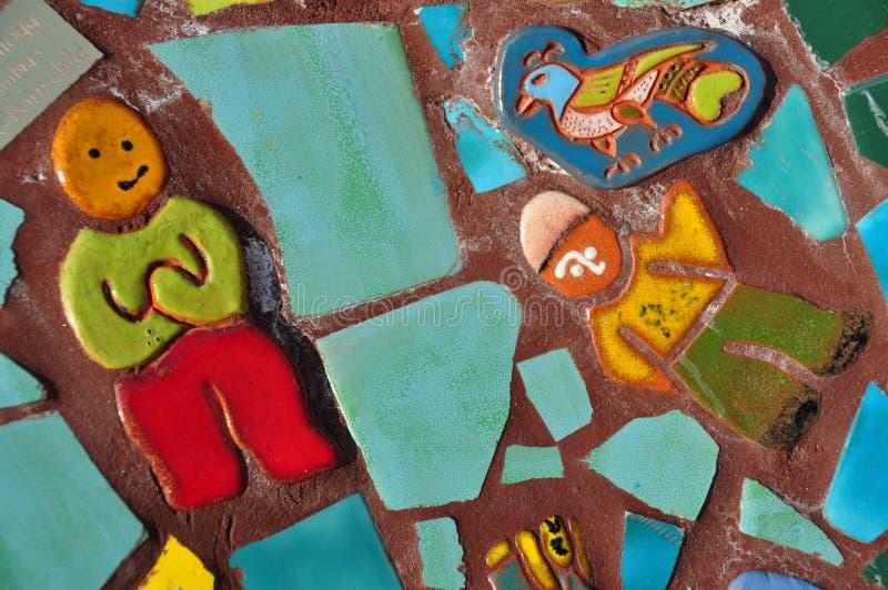 De kleurrijke Ceramiektegel van het Mozaïek royalty-vrije stock afbeeldingen