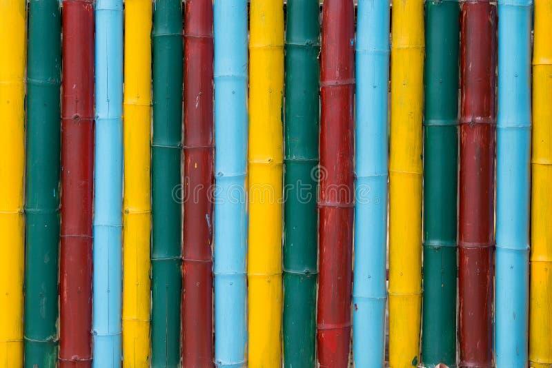 De kleurrijke close-up van de bamboetextuur royalty-vrije stock fotografie