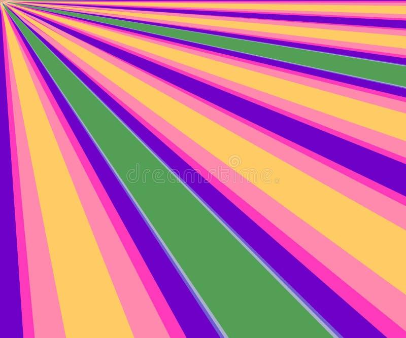 De kleurrijke Diagonale Achtergrond van Stralen stock illustratie
