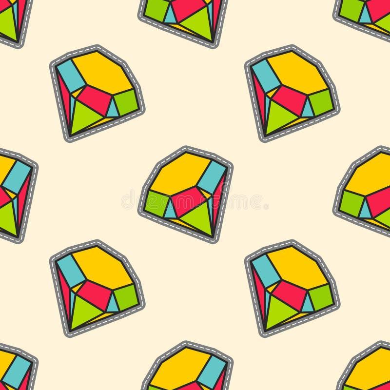De kleurrijke diamanten herstellen naadloos patroon vector illustratie
