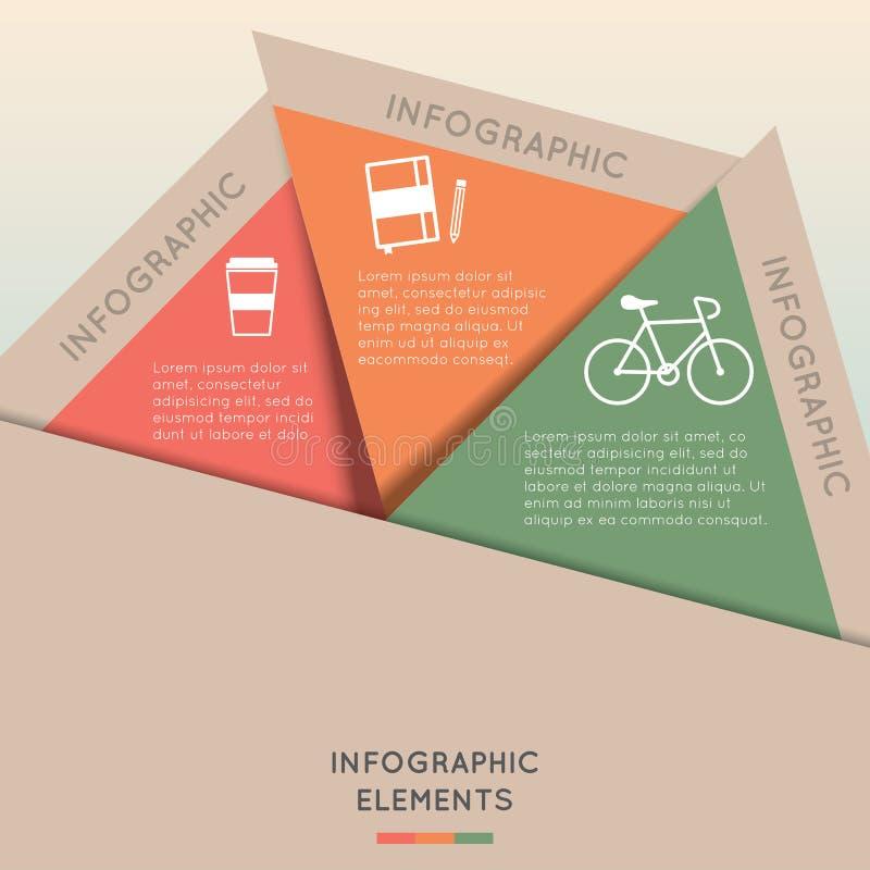 De Kleurrijke Driehoek van Infographicelementen royalty-vrije illustratie