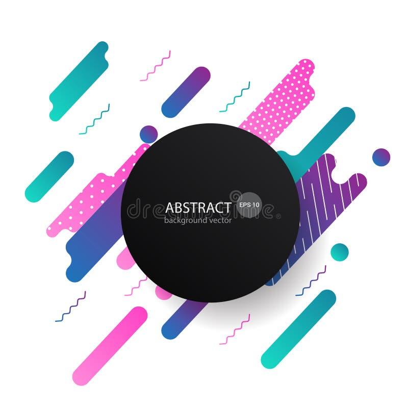 De kleurrijke Dynamische Abstracte Achtergrond van Meetkundeelementen Vector i stock illustratie