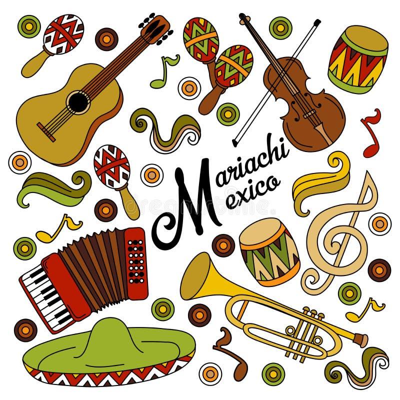 De kleurrijke feestelijke achtergrond van Mariachimexico stock fotografie