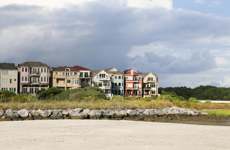 De kleurrijke Huizen van de Waterkant royalty-vrije stock fotografie