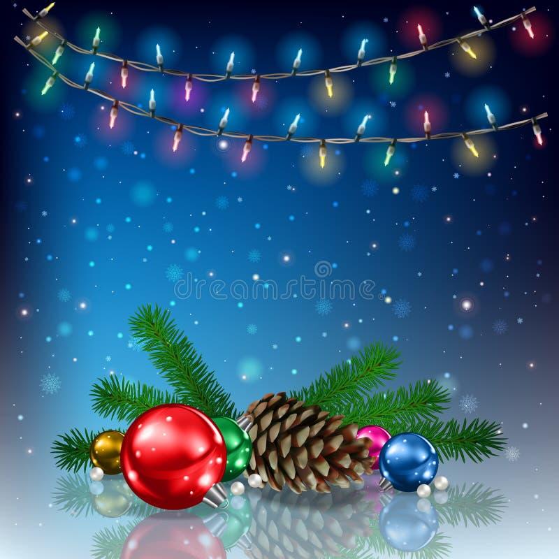 De kleurrijke illustratie van Kerstmis stock illustratie