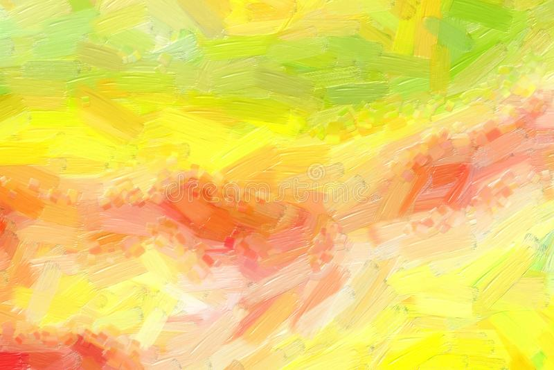 De kleurrijke illustratie van de olieverfschilderij met de hand geschilderde kunst: abstracte textuur op canvas, achtergrond stock illustratie