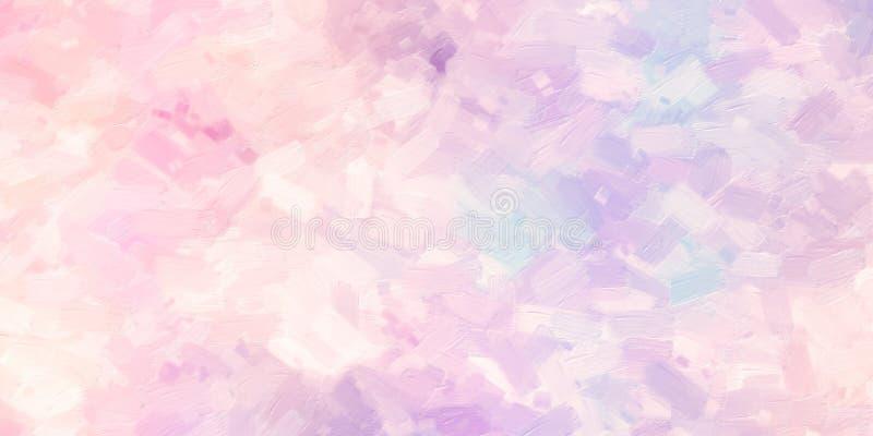De kleurrijke illustratie van de olieverfschilderij met de hand geschilderde kunst: abstracte textuur op canvas, achtergrond royalty-vrije illustratie