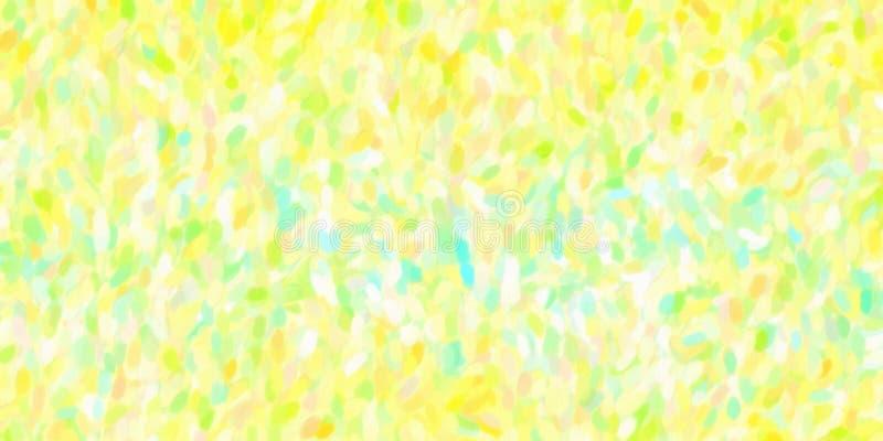 De kleurrijke illustratie van de olieverfschilderij met de hand geschilderde kunst: abstracte textuur op canvas, achtergrond vector illustratie