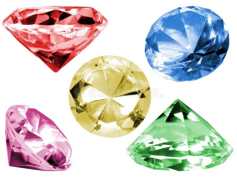 De kleurrijke Kristallen van het Glas stock afbeelding